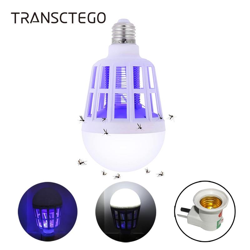 220V E27 UV LED 전구 15W 모기 킬러 램프 2 1 모기 트랩 곤충 킬러 전구 플라이 버그 Zapper Night Light For Baby