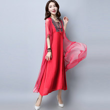2018 winter women pack hip dresses elegant short sleeve floral print bridesmaid  mother of bride party dress 58ef7d69e258