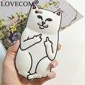 Новый Горячий Карманный Белый Кот Мягкий Силиконовый Телефон Задняя Крышка Телефона чехол Для iPhone 4 4S 5 5S SE 6 6 S 6 Плюс 6 SPlus