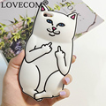 New Hot Pocket White Cat Soft Silicon Phone Back Cover Phone Case For iPhone 4 4S 5 5S SE 6 6S 6Plus 6SPlus