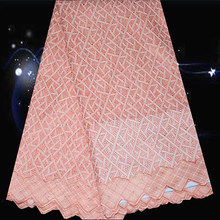 (5yards/lot) SPC100,top quality embroidered cotton lace fabric,wholesale Swiss voile lace fabric for party dress!