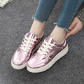 2016 New Men Pu Leather Shoes Autumn Shine Platform Casual Creepers Ladies Pink Oxford School Style Shoes Massage Sales