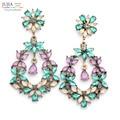 3 цветов оптовая Хорошее qualtiy большой леди серьги женщин мода заявление кристалл Серьги стержня для женщин ювелирного заводская цена