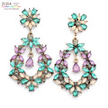 3 cores atacado Bom qualtiy grande brinco da senhora mulheres declaração de moda Brincos de cristal do parafuso prisioneiro para as mulheres jóias preço de fábrica