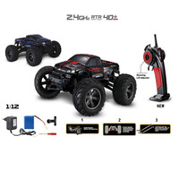 High Quality 35+MPH 1/12 Scale RC Car 2.4Ghz 2WD High Speed Remote Controlled TRACK Red Toys Wholesale Free Shipping