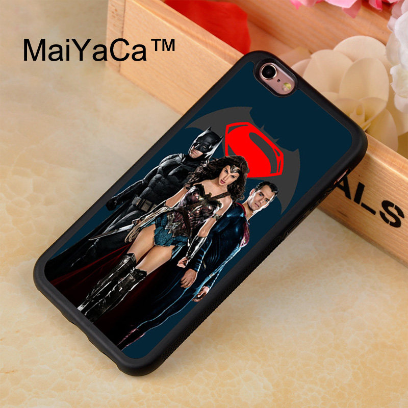 MaiYaCa Batman vs Superman Movie Phone Case For iPhone 7 Luxury Rubber Protect Back Cover Capa Coque For iPhone 7 4.7 inch