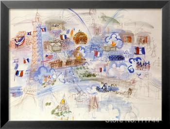 Modern art Landscape Paris 14 Juillet by Raoul Dufy painting High quality Hand painted