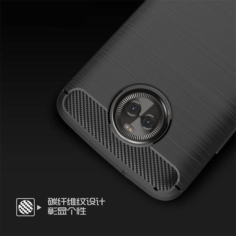 Luxury Carbon Fiber Phone Case For Motorola Moto X4 Coque Fundas Soft Silicone Cover Case For Motorola X4 Capa 5.2''