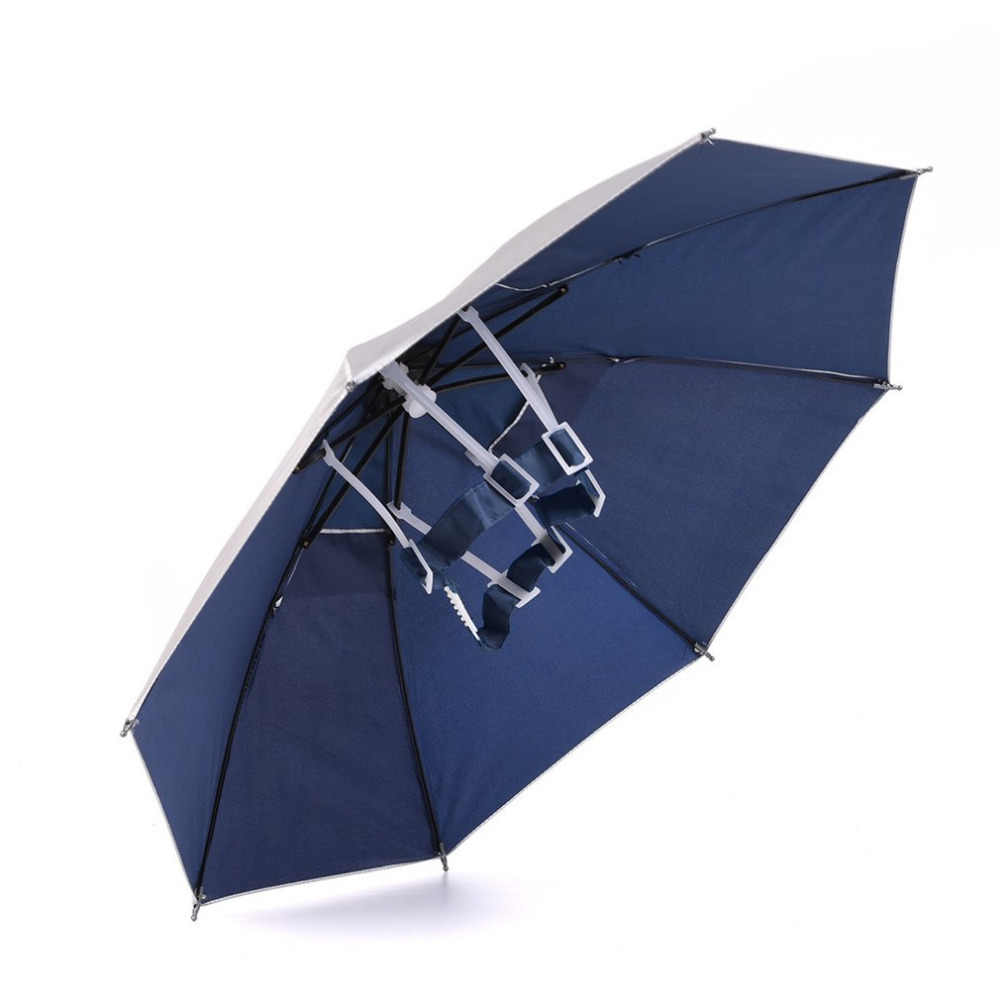 18dd2700b3239 Foldable Head Umbrella Hat Anti-Rain Outdoor Fishing Caps Portable Travel  Hiking Beach Fishing Umbrellas