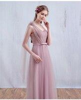 Два вида милое на одно плечо ТРАПЕЦИЕВИДНОЕ длинное Тюлевое платье в виде бобов розового цвета для невесты Свадебные платья Invitados