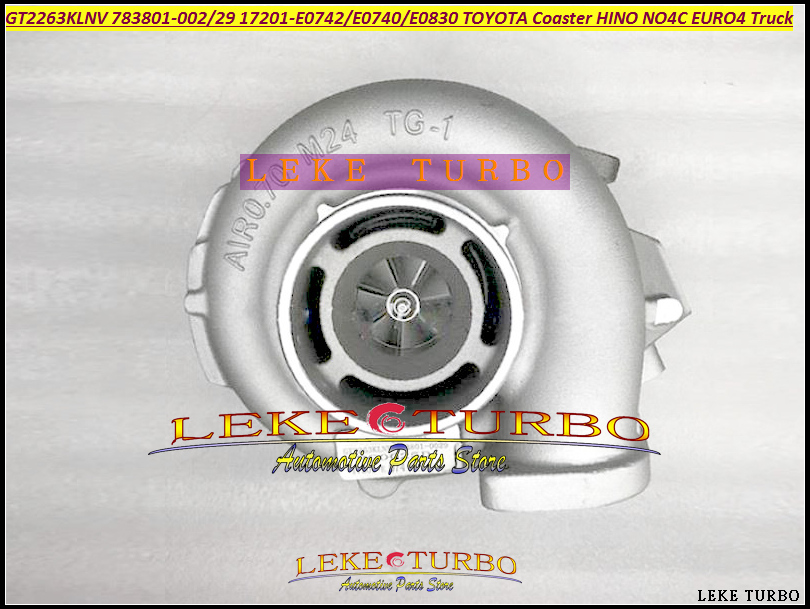 NOA GT2263KLNV Turbo 783801 783801 0024 783801 0029 HINO 17201 E0742 17201 E0740 17201 E0830 Para TOYOTA Coaster NO4C EURO4 Caminhão Entradas de ar     - title=