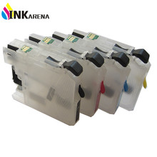 LC223 Refillable Ink Cartridge for Brother DCP-J4120DW J4420DW J4620DW 4625DW J5320DW J5620DW J5625DW J5720DW With Reset Chip