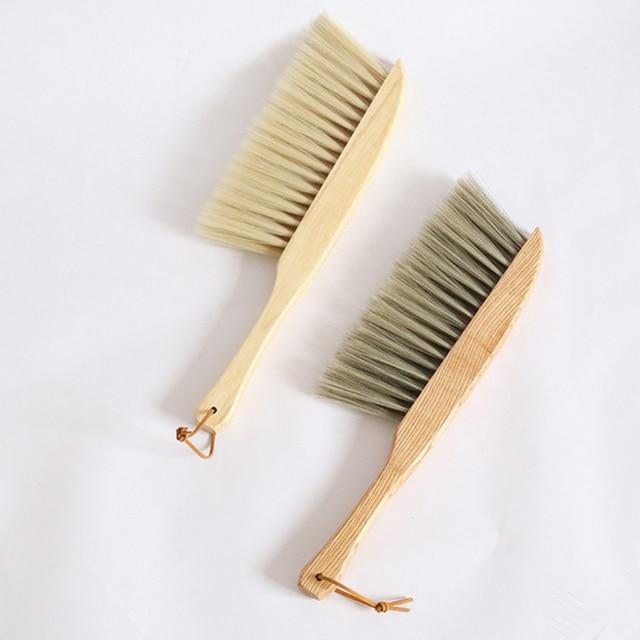 Bamboo Handle Mini Brooms Shovel Set Household Plastic Cleaning Brush Small Broom Dust Shovel 3