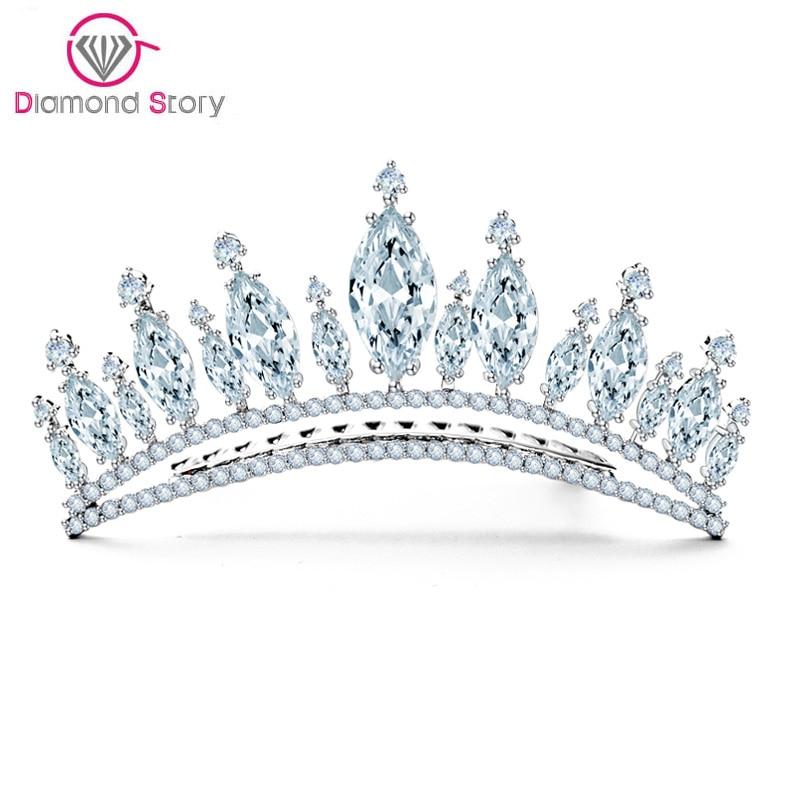 تيجان ملكية  امبراطورية فاخرة Pendientes-LUOTEEMI-Grosir-Perhiasan-Pemasok-Baru-Princess-Crown-Batal-Zircon-Rhodium-Disepuh-Bridal-Aksesori-Rambut-untuk