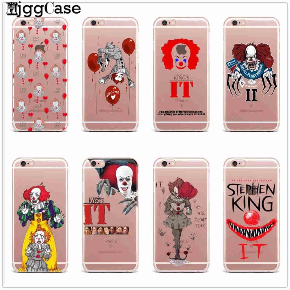 Stephen king's het zacht TPU Telefoon Case Voor iPhone X 6 6 s 7 8 Plus 5 S SE case Pennywise De Clown Horror voor iPhone 6 s Cover Capa