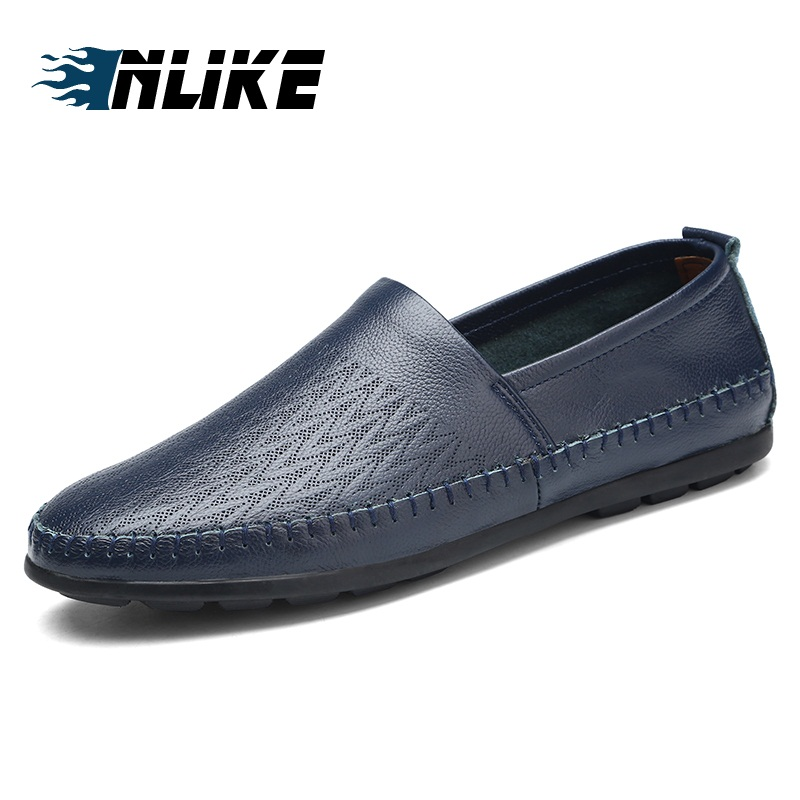 Men's Genuine Leather Loafers Big Size Doug Driving Shoes Loafer Flats Shoes For Men