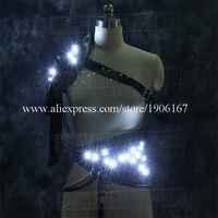 Najnowszy Led Luminous Kostium Ubrania Taniec Towarzyski Oświetlenie LED Rosnące Garnitury Odzież Mężczyźni Event Party Supplies