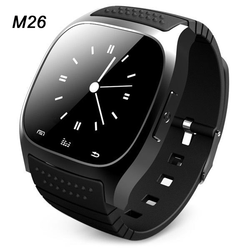 Hot sport Bluetooth Smart Watch luxury wristwatch M26 smartwatch with Dial SMS Remind Pedometer for IOS Android Samsung phone