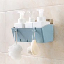 Suction Wall Bathroom Shelf Bathroom Free Punch Washwalk Storage rack Plastic Wall Mount Shelf