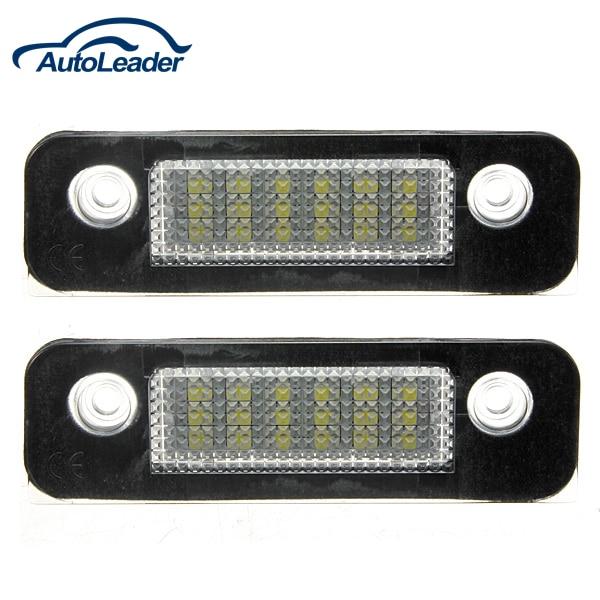 2 Pcs 12V 18 LEDs Bulb License Number Plate Lamps Light For Ford/Mondeo/MK2/Fusion Error Free 2017 2 led license number plate light lamp st for ford fiesta mk5 5 fusion mondeo mk2