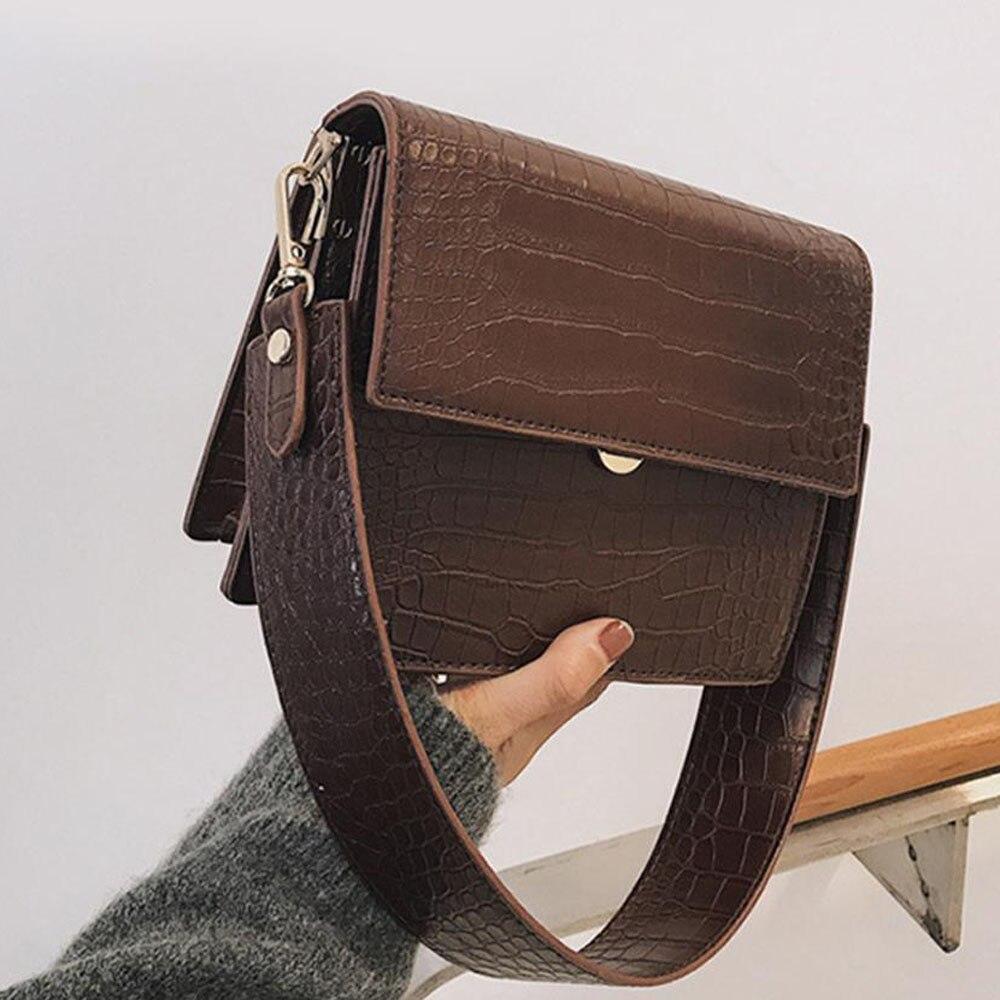 Novo padrão de crocodilo bolsa feminina alta qualidade ombro messenger bag couro do plutônio bolsa crossbody para mulher 2019 bolsa feminina