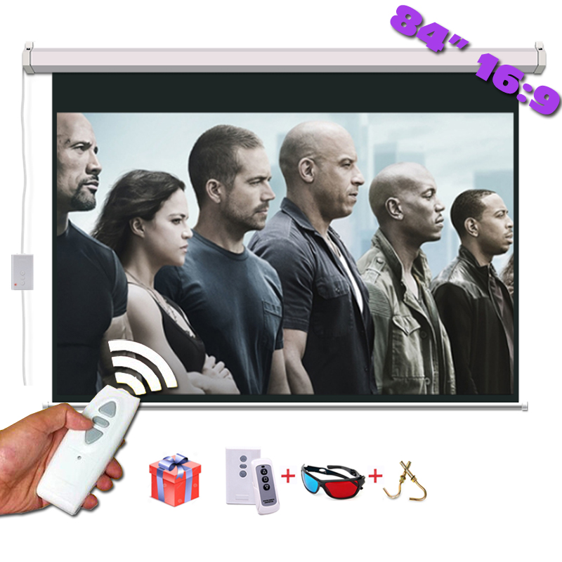 84 inches 16:9 Electric Projection Screen Matt White pantalla proyeccion for LED LCD HD Movie Motorized Projector Screen super bass in ear sport earphone with microphone hifi stereo noise isolating music earphones headset for mobile phone iphone mp3