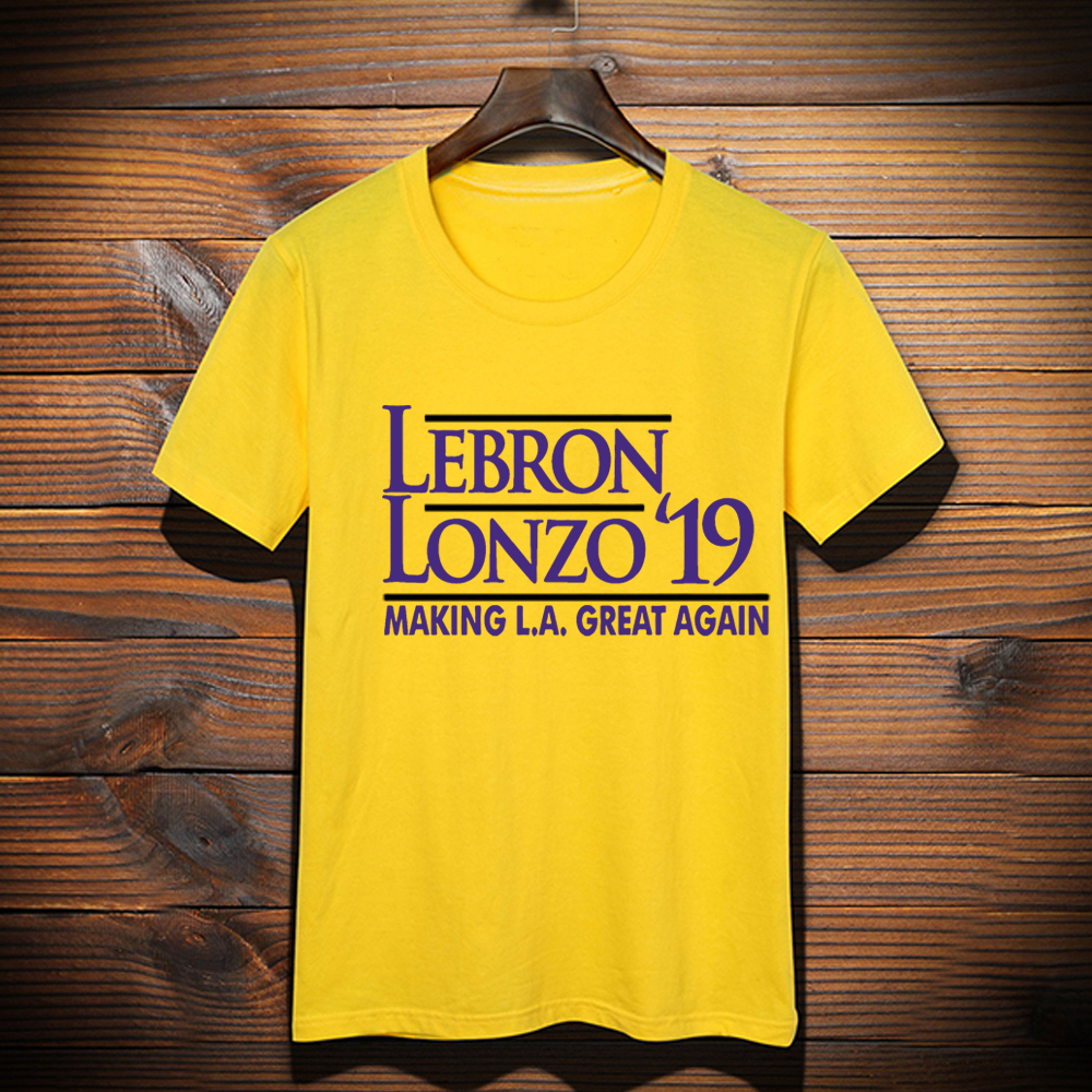 wholesale dealer a43c6 66eb4 New Custom Made LeBron shirt LeBron Lonzo Make Los Angeles Great Again  tshirt LeBron James LA Lakers Graphic T-Shirt Top Tees