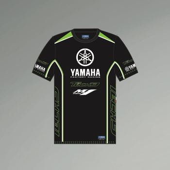 Moto Motorcycle Jersey for Yamaha Black Sports Summer Cloths Off-road Team Racing Men's T-shirt