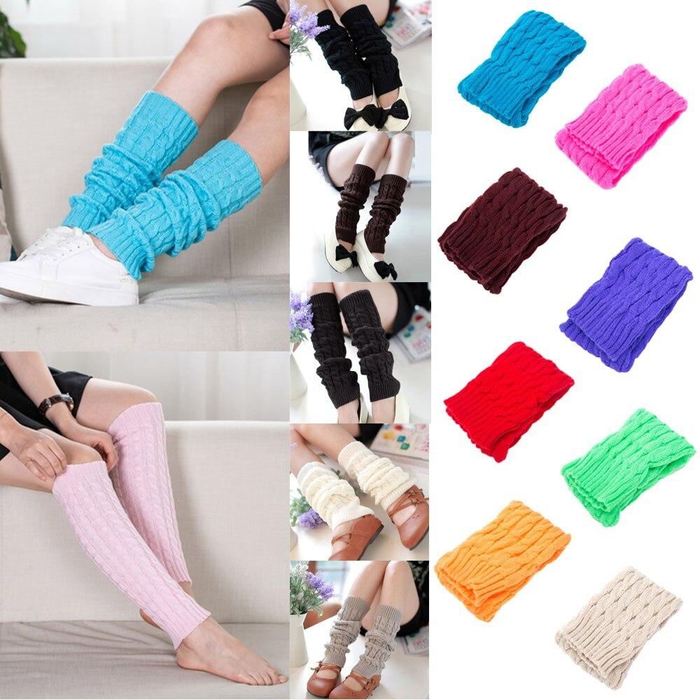 Underwear & Sleepwears Intelligent Leg Warmers Women Simple Winter Warm Solid Color Knitted Crochet High Quality Womens Legging Elegant All-match Female Trendy New Buy One Get One Free