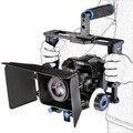 Rig dslr hombro de la cámara estabilizador kit de soporte follow focus caja mate película de película para canon nikon sony cámara de vídeo