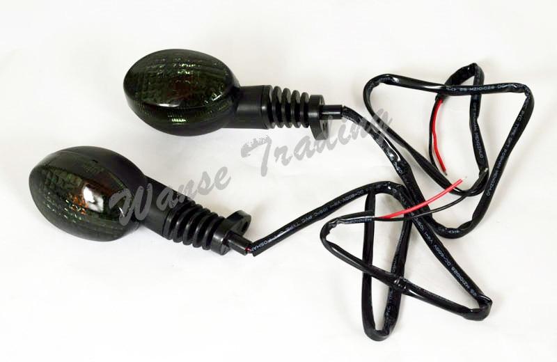 Waase мотоцикл Запчасти мигающий сигнал поворота индикатор лампочка для YAMAHA XT660R XT660X XT660Z XT660 XT 660R 660X 660Z - Цвет: Черный