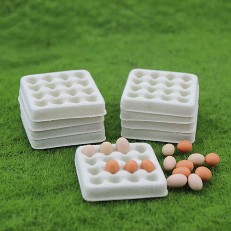 1 PcModel Miniature Toy 40*40*6mm Food Playing Mini Empty Egg Tray Dollhouse