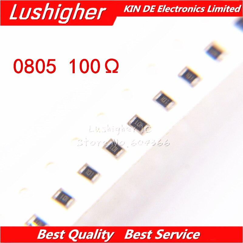 100PCS 0805 SMD Resistor 5% 100R Ohm 101 100ohm