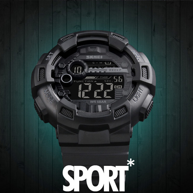 Outdoor Sports G Style Shock Watch Electronic Men Waterproof Digital Watch SKMEI LED Wristwatch Military Male Clock Backlight