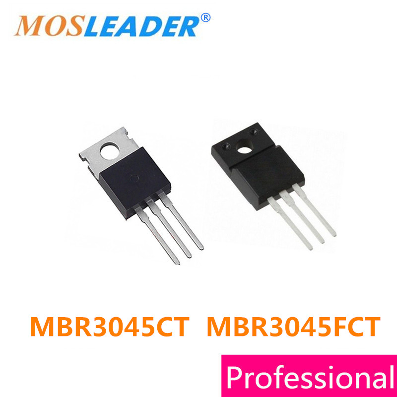 Mosleader 100PCS <font><b>MBR3045CT</b></font> TO220 MBR3045FCT TO220F MBR3045 Made in China High quality image