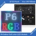192*192mm 32*32 pixels 1/16 Varredura SMD 3in1 RGB P6 interior full color LED display module