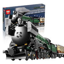 LEPIN 21005 1085PCS Creator series the Emerald Night model building blocks set Classic compatible Steam trains Toys Christmas