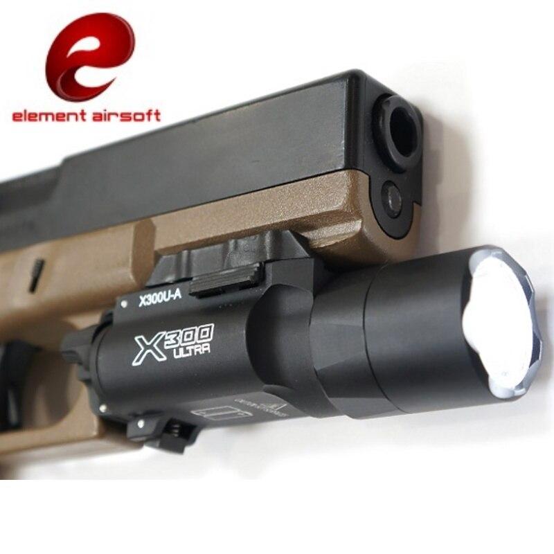 elemento airsoft arma x300u x300 ultra arma luz led lanterna tatica softair pistola de ar lampada