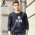 Pioneer Camp 2017 New fashion brand casual high quality cotton male t-shirt  long sleeved men t shirt o neck Tshirt men  611906