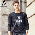 Pioneer camp 2017 nueva marca de moda de algodón de alta calidad ocasional masculina camiseta de manga larga hombres camiseta o cuello de la Camiseta de los hombres 611906