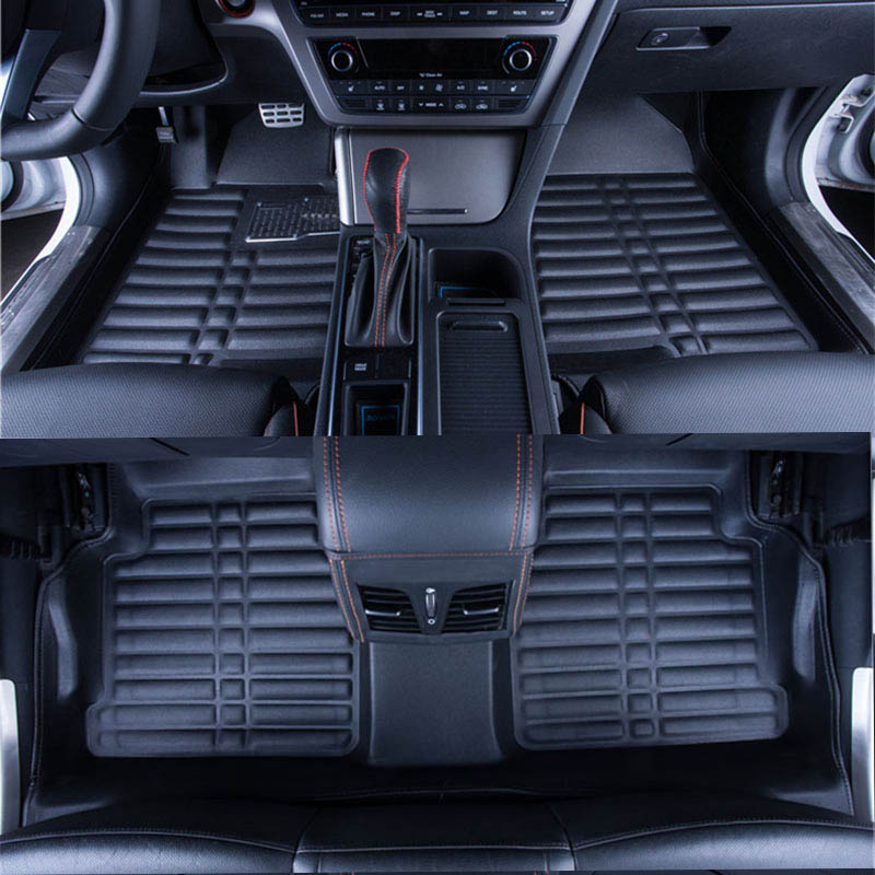 Car Floor Mats Covers top grade anti-scratch fire resistant durable waterproof 5D leather mat for Audi Q7 Car-Styling