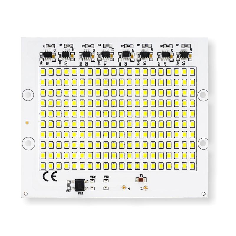 2pcs LED Chip de lámpara SMD Smart IC AC 220-240V 10W 20W 30W 50W 100W Energía real DIY para luz de inundación al aire libre Blanco frío Blanco cálido