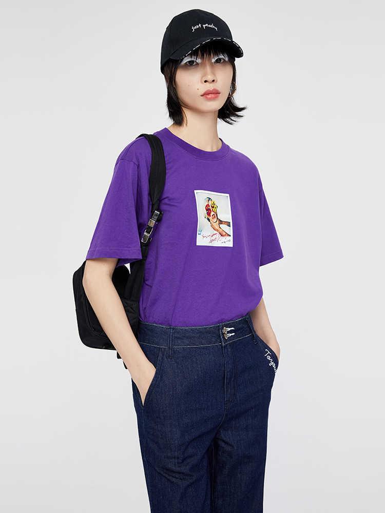 Toyouth 女性夏新 2019 ファッション文字パターンプリント半袖 O ネックコットンルースコットン tシャツ女性