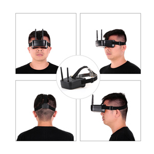 Image 4 - 5,8G 40CH Dual Antennen FPV Brille Monitor Video Gläser Headset HD Mit 5,8G 25mW sender fpv kamera für Racing Drone