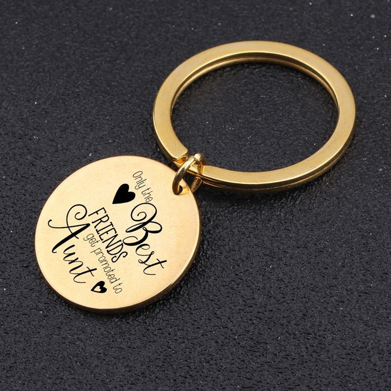 Best Friend Gift for Wife Crystal Heart Keyring with Free Engraving Auntie