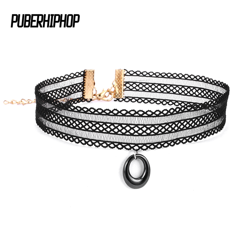 2018 Cool Cloth Lace Tattoo Choker Necklace Statement For Women Never Fade Ceramic Necklaces & Pendants Fashion Jewelry