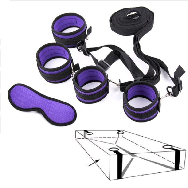 Bondage Strap Hand Wrist Ankle Cuff Kit Toys Sm Adult Bdsm Under Bed System Adul Specialty Unisex