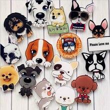 1 PCS Cartoon Dog Icons Acrylic Badges for Backpack Clothes Plastic Badge Kawaii Pin brooch