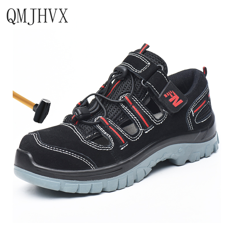 QMJHVX Mens Breathable Steel Toe Cap Work Safety Shoes Summer Deodorant sandals Men Outdoor Construction Labor Insurance ShoesQMJHVX Mens Breathable Steel Toe Cap Work Safety Shoes Summer Deodorant sandals Men Outdoor Construction Labor Insurance Shoes