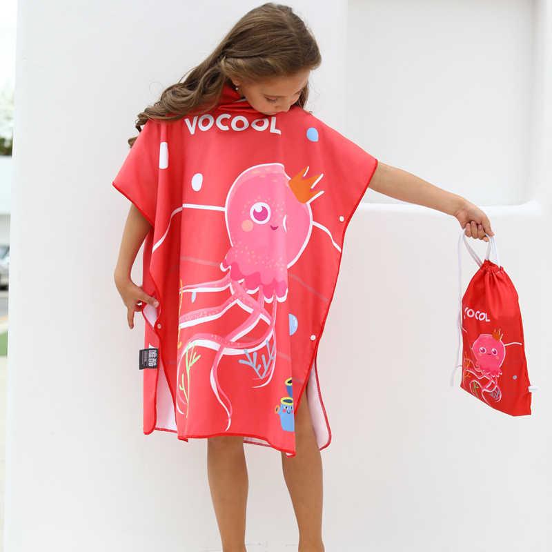 Bambini Unisex Accappatoio Quick Dry Felpa Con Cappuccio Fumetto Stampato Asciugamano Da Spiaggia Da Bagno Accappatoio Asciugamano Con Cappuccio Per Bambini di Nuoto Veste 2019